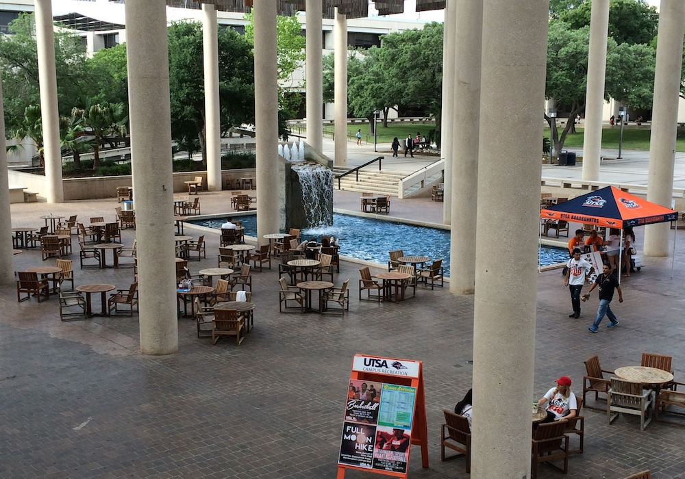UTSA Sombrilla Fountain